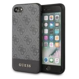 Guess 4G Bottom Stripe Collection - Etui iPhone SE 2020 / 8 / 7 (szary)-1344187