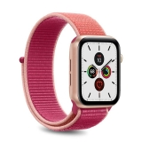 PURO Nylon - Pasek do Apple Watch 42 / 44 mm (Karalowy/Różowy)-2295857