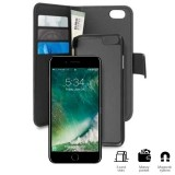 PURO Wallet Detachable - Etui 2w1 iPhone 8 Plus / 7 Plus / 6s Plus / 6 Plus (czarny)-235463