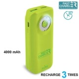 PURO Universal External Fast Charger Battery - Uniwersalny Power Bank 4000 mAh, 2 x USB, 2.4 A (limonkowy)-257347