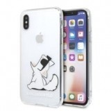 Karl Lagerfeld Choupette Fun - Etui iPhone  Xs / X (Transparent)-356574
