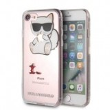 Karl Lagerfeld Choupette Fun Eaten Apple -  Etui iPhone 8 / 7 (przezroczysty)-356579