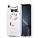 Karl Lagerfeld Choupette Fun Eaten Apple - Etui iPhone XR (przezroczysty)-361736