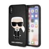 Karl Lagerfeld Iconic Karl Embossed - Etui iPhone Xs Max (Black)-434715