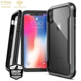 X-Doria Defense Shield - Etui aluminiowe iPhone XR (Drop test 3m) (Black)-446199