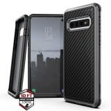 X-Doria Defense Lux - Etui aluminiowe Samsung Galaxy S10  (Drop test 3m) (Black Carbon Fiber)-450458