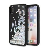 Karl Lagerfeld Signature Glitter Case Iridescent Black - Etui iPhone Xs / X (Glitter Sequins)-450908