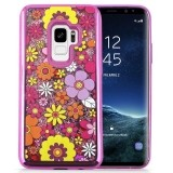 Zizo Liquid Glitter Star Case - Etui Samsung Galaxy S9 (Multiflowers)-461580
