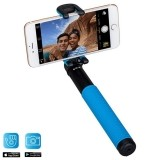 Momax Selfie Hero - Uniwersalny kij do selfie   pilot Bluetooth (100 cm) (Black/Blue)-468617