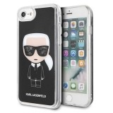 Karl Lagerfeld Iconic Karl - Etui iPhone 8 / 7 (Black Glitter)-589194