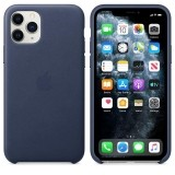 Apple Leather Case - Skórzane etui iPhone 11 Pro (nocny błękit)-654225