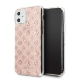 Guess 4G Peony Solid Glitter - Etui iPhone 11 (różowy)-656102