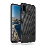 Crong Prestige Carbon Cover - Etui Huawei P30 Lite (czarny)-677890