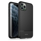 Crong Prestige Carbon Cover - Etui iPhone 11 Pro Max (czarny)-764800
