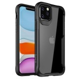Crong Hybrid Clear Cover - Etui iPhone 11 Pro (czarny)-764821