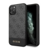 Guess 4G Bottom Stripe Collection - Etui iPhone 11 Pro (szary)-779728