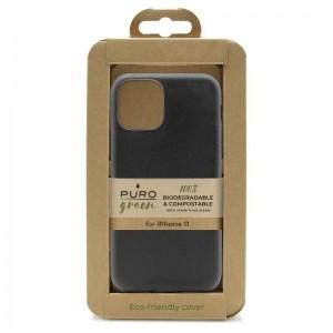 PURO Green Compostable Eco-friendly Cover - Ekologiczne etui iPhone 11 (czarny)-1531058