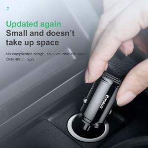 Baseus Circular - Ładowarka samochodowa 2 x USB QC 3.0, 30 W (czarny)-1637933