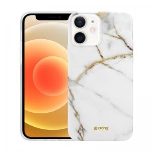 Crong Marble Case - Etui iPhone 12 / iPhone 12 Pro (biały)-2231623
