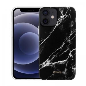 Crong Marble Case - Etui iPhone 12 Mini (czarny)-2231788