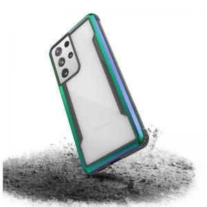 X-Doria Raptic Shield - Etui aluminiowe Samsung Galaxy S21 Ultra (Antimicrobial protection) (Iridescent)-2253937