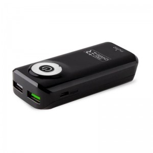 PURO Universal External Fast Charger Battery - Uniwersalny Power Bank 4000 mAh, 2 x USB, 2.4 A (czarny)-257346