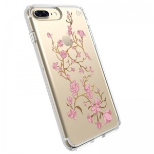 Speck Presidio Clear with Print - Etui iPhone 8 Plus / 7 Plus / 6s Plus / 6 Plus (Goldenblossoms Pink/Clear)-260513