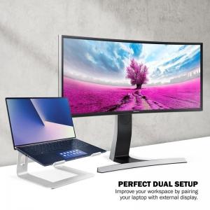 Crong AluBench – Aluminiowy stojak pod laptopa (srebrny)-2649066