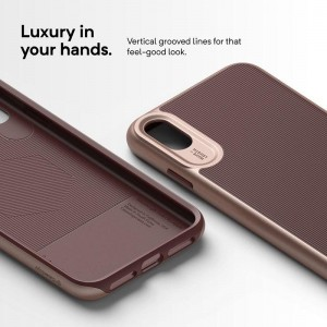 Caseology Wavelength Case - Etui iPhone Xs Max (Burgundy)-355977