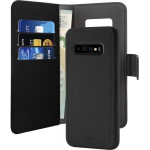 PURO Wallet Detachable - Etui 2w1 Samsung Galaxy S10  (czarny)-433984