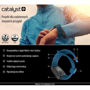 Catalyst Sport Band - Elastyczny pasek do Apple Watch 42/44 mm (Stealth Black)-461845