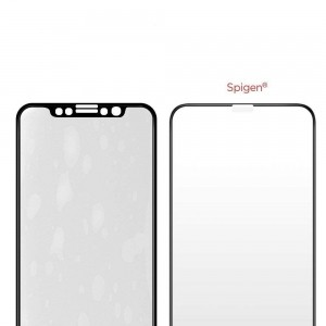 Szkło hartowane Spigen GLAS.tR TC 3D Full Cover Case Friendly iPhone XS/X 5.8 Black-495379