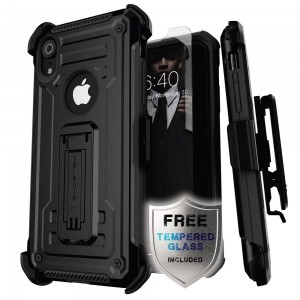 Etui Ghostek Iron Armor 2 iPhone XR 6.1 Black   Szkło-495764
