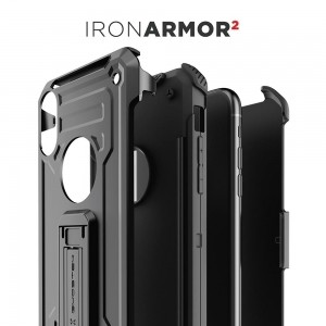 Etui Ghostek Iron Armor 2 iPhone XR 6.1 Black   Szkło-495766