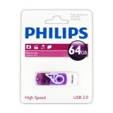 Philips Pendrive USB 2.0 64GB - Vivid Edition (fioletowy)-235255