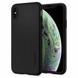 Spigen Thin Fit 360 Full Body - etui ochronne ze szkłem na ekran do iPhone Xs / X (czarny)